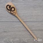 Wood Burnt Snake Wooden Spoon