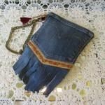 Recycled Denim Pocket Wristlet