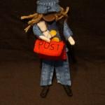 Postie yarn doll