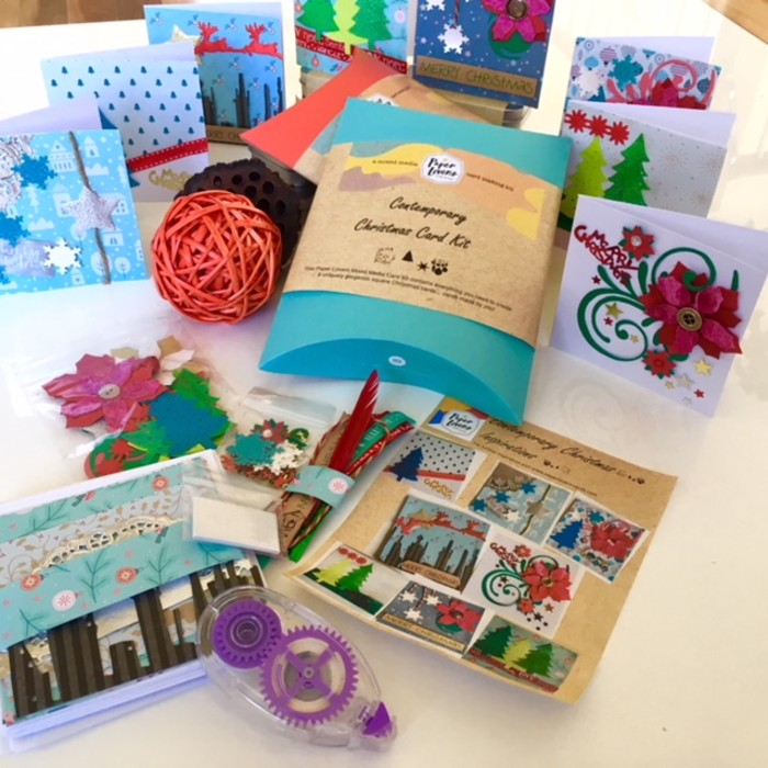 Contemporary Christmas Card Making Kit | PaperloverCards | madeit.com.au