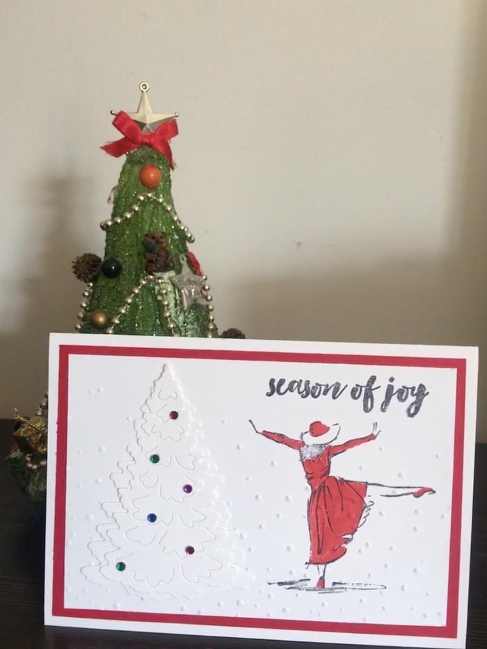 Bulk 4 Christmas Cards - Christmas Joy (free postage) | Stacey C ...