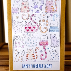 Happy purrrrthday - purrfect for cat lovers