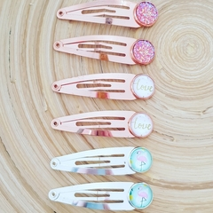 Hair clips - set of 6.