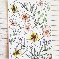 Blank Card - Floral pattern