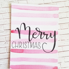 Christmas card - Red Stripes