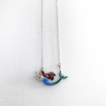 mermaid necklace- ocean-lady-enamel-ooak-fantasy