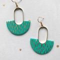Polymer Brass Gold Foil Statement Earrings