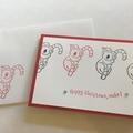 Bulk 5 Christmas Cards - koala australian Christmas (free postage)