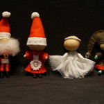 Christmas yarn doll set