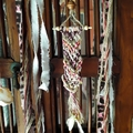 Macrame Wall Hanging Rustic Driftwood Shells Beads Animal Leopard Print Decor