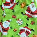 "Size 2 and 3 - ""Jolly Santa"" Christmas Shorts and Appliqued Singlet"