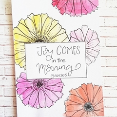 Encouraging card - Joy comes in the morning