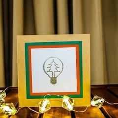 Brilliant light bulb Christmas card - set of 5