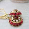 Sophia - Crystal Earrings | Art Deco Style Drops | Multi crystal dome Earrings |