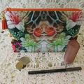 Cosmetic/Jewellery Pouch - Lily's with Orange accents