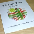Personalised Thank you Teacher card - Apple