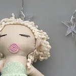 Mati & Bel. Unique handmade heirloom quality cloth art doll. Eco friendly fill.