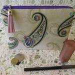 Cosmetic/Jewellery Pouch- Paisley Design