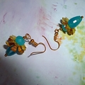 Aquamarine and Chalcedony earrings