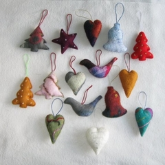 15 Felted Christmas Decorations #1
