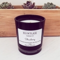 Japanese Honeysuckle Scented 100% soy wax candle. Black Medium glass tumbler