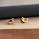 Tiny Sleepy Birds | Surgical Steel Stud Earrings | Free Shipping