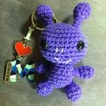 'Little Purple Alien' Keyring Cutie / Bag or Luggage Identifier