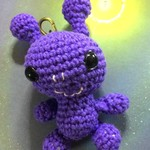 'Little Purple Alien' Keyring Cutie / Bag or Luggage Identifier