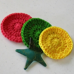Make up remover, baby wash cloth, scrubbies, face washer, eco Christmas gift set