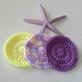 Make up remover, baby wash cloth, scrubbies, face washer, eco gift, pink set