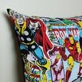 "Marvel dc comics pillow, dc comics pillow, 18"" pillow, thor pillow, captain"