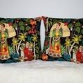 Alexander Henry fridas garden cushion cover, decorative pillows, frida print, fo