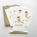Set of 5 Christmas Cards, Australian Christmas Cards, Aussie Koala Cards, 5P019