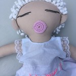 Mati & Bel. Unique handmade heirloom quality cloth art doll. Eco friendly fillin