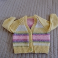 Size 6-12 months hand knitted cardigan; girl, washable