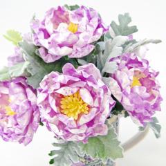 Painted Peonies Paper Flowers
