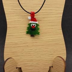 Christmas Tree Beaded Pendant Santa Christmas gift festive xmas father Christmas