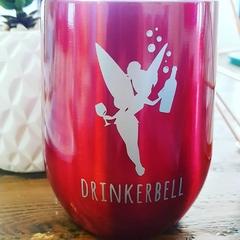 DRINKERBELL vinyl decal - wine glass decal