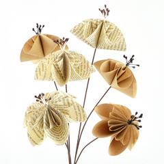 Well Read Paper Flowers