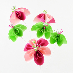 Tickled Pink Paper Flowers