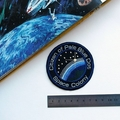 Pale Blue Dot Space Embroidered Patch
