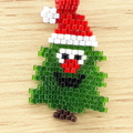Christmas Tree Beaded Pendant Santa Christmas gift festive xmas father Christmas