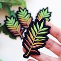 Green Summer Leaves Embroidered and Iron on Patch