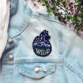 Wild Fox Mountains Embroidered and Iron on Patch