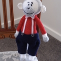Maddock the hand crochet toy Monkey - unisex, washable, OOAK by CuddleCorner