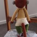Milo the hand crocheted Monkey - unisex, washable, OOAK by CuddleCorner