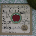 Apple for the Teacher Card Christmas Card Music Teacher Card Thank the Teacher
