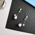 Bell Flower Duo Drop Earrings (Lavender) - Handmade Kawaii Flowers