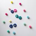 Initial Polymer Earrings, Custom Studs, Sterling Silver