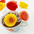 Cat Lovers Paper Flower Tea Cup